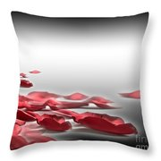When The Petals Fall Throw Pillow by Cheryl Young