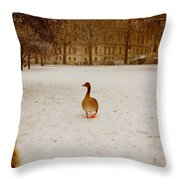 Where Is Everyone Throw Pillow by Jasna Buncic