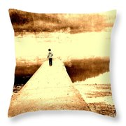 Where the Sidewalk Ends Throw Pillow by Amy Sorrell