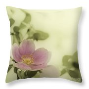 Where The Wild Roses Grow Throw Pillow by Priska Wettstein