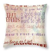 Which Way Throw Pillow by Heather Applegate