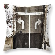 Which Way Throw Pillow by Margie Hurwich