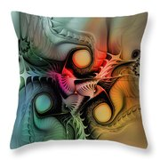 Whirlpool-abstract Art Throw Pillow by Karin Kuhlmann