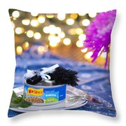Whiskers Special Birthday Pate Throw Pillow by Juli Scalzi
