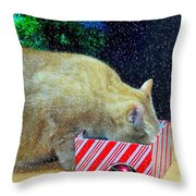 Whiskey's Present Throw Pillow by Diana Angstadt