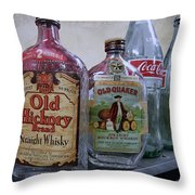 Whisky And Coke Throw Pillow by Daniel Hagerman