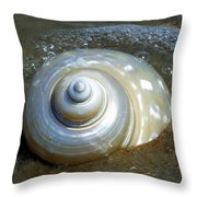 Whispering Tides Throw Pillow by Karen Wiles