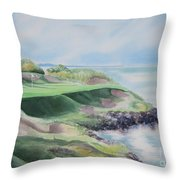 Whistling Straits 7th Hole Throw Pillow by Deborah Ronglien