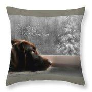 White Christmas Throw Pillow by Lori Deiter