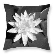 White Lotus 2 Throw Pillow by Ellen Henneke
