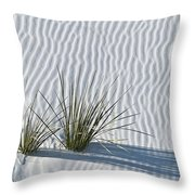 White Sands Grasses Throw Pillow by Steve Gadomski