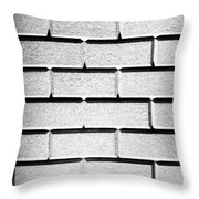 White Wall Throw Pillow by Semmick Photo