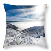 Whitefish Inversion Throw Pillow by Aaron Aldrich