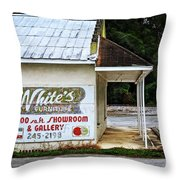 White's Furniture Throw Pillow by Mary Machare