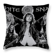 Whitesnake No.01 Throw Pillow by Caio Caldas