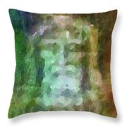 Who Do Men Say That I Am - The Shroud Throw Pillow by Glenn McCarthy Art and Photography