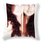 Who Is True Throw Pillow by Jenny Rainbow