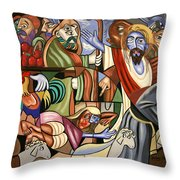 Who Touched Me Throw Pillow by Anthony Falbo