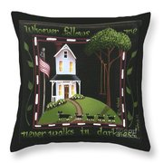 Whoever Follows Me... Throw Pillow by Catherine Holman