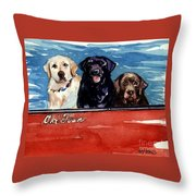 Whole Crew Throw Pillow by Molly Poole