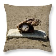 Who's On First Throw Pillow by Bill Cannon
