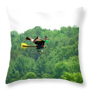 Wicked And Flying Throw Pillow by Thomas Young