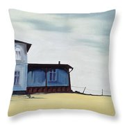 Wide Blue Throw Pillow by Ana Bianchi