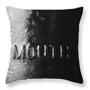 Widemouth Throw Pillow by Christi Kraft