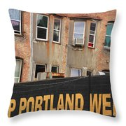 Weird And Wonderful Portland Throw Pillow by Kris Hiemstra