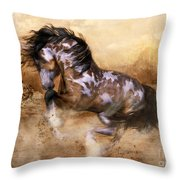 Wild And The Free Throw Pillow by Shanina Conway