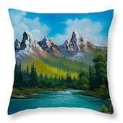 Wild Country  Throw Pillow by C Steele