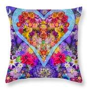 Wild Flower Heart Throw Pillow by Alixandra Mullins