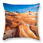Wild Sandstone Landscape Throw Pillow by Inge Johnsson