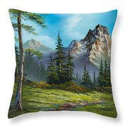 Wilderness Trail Throw Pillow by C Steele