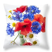 Wildflower Bouquet Throw Pillow by Elena Elisseeva