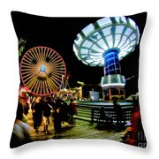 Wildwood Is A Happy Place Throw Pillow by Mark Miller