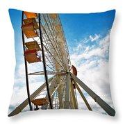 Wildwood's Wheel Throw Pillow by Mark Miller