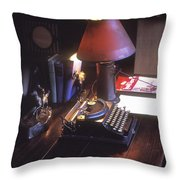 Will Rogers Desk Throw Pillow by Paul W Faust -  Impressions of Light