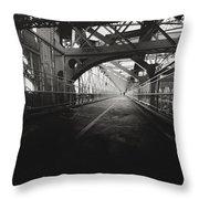 Williamsburg Bridge - New York City Throw Pillow by Vivienne Gucwa