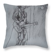 Mink Deville - Steady Drivin' Man Throw Pillow by Sean Connolly