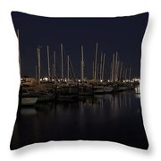 WINCHESTER BAY MARINA - OREGON COAST Throw Pillow by Daniel Hagerman