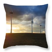 Wind and Sun Throw Pillow by Olivier Le Queinec