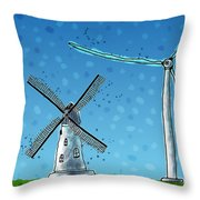 Wind Blows Throw Pillow by Gianfranco Weiss