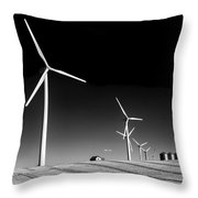 Wind Farm Throw Pillow by Trever Miller