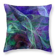 Wind Through The Lace Throw Pillow by Andee Design