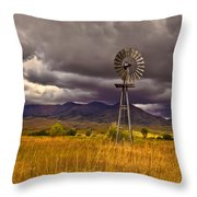 Windmill Throw Pillow by Robert Bales