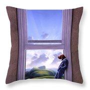 Window Of Dreams Throw Pillow by Jerry LoFaro