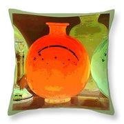 Window Shopping For Glass Throw Pillow by Ben and Raisa Gertsberg