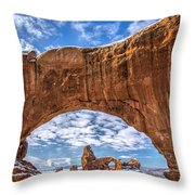 Window Through Time Throw Pillow by Dustin  LeFevre