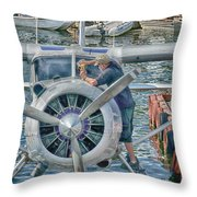 Windshield Wiper Throw Pillow by Trever Miller